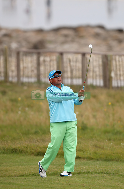 Argentina's Mauricio Molina during day three of the Senior Open at Royal Porthcawl Golf Club. PRESS ASSOCIATION Photo. Picture date: Saturday July 29, 2017. Photo credit should read: Nick Potts/PA Wire. RESTRICTIONS: Editorial use only. No commercial use.