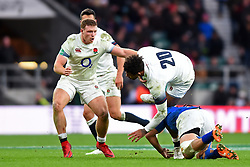 November 25, 2017 - London, England, United Kingdom - England's Sam Simmonds supports Courtney Lawes during Old Mutual Wealth Series between England against Samoa at Twickenham stadium , London on 25 Nov 2017  (Credit Image: © Kieran Galvin/NurPhoto via ZUMA Press)