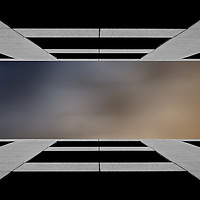 The photograph of a row of windows in a modern building.