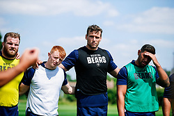 Blake Boyland, Sam Jeffries and Charles Piutau look on during week 1 of Bristol Bears pre-season training ahead of the 19/20 Gallagher Premiership season - Rogan/JMP - 03/07/2019 - RUGBY UNION - Clifton Rugby Club - Bristol, England.
