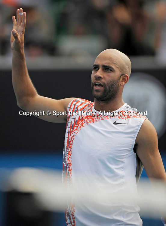 James Blake (USA). 2008 Australian Open. Melbourne Park, Melbourne,  Australia. Wednesday 23 January 2008. Photo: Sport The Library/PHOTOSPORT