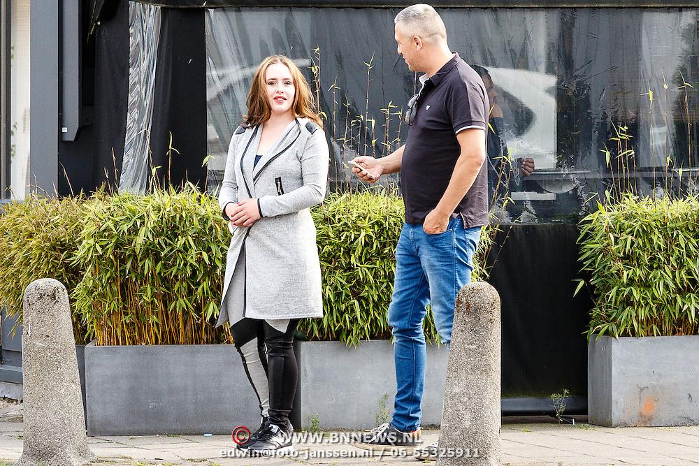 NLD/Amsterdam/20160521 -  Martin Kok van Vlindercrime met zijn nieuwe partner Alexandra Roelofs.