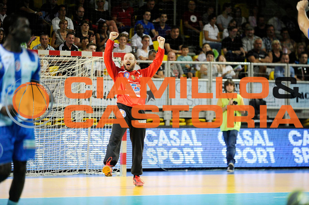 DESCRIZIONE : Handball Homme Eurotournoi<br /> GIOCATORE : Gerard Vincent<br /> SQUADRA : Dunkerque <br /> EVENTO : Eurotournoi<br /> GARA : Dunkerque Skopje<br /> DATA : 01 09 2013<br /> CATEGORIA : Handball Homme<br /> SPORT : Handball<br /> AUTORE : JF Molliere <br /> GALLERIA : France Hand 2013-2014 Action<br /> FOTONOZIA : Hand <br /> Predefinita :