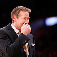 10 December 2013: Phoenix Suns head coach Jeff Hornacek is seen during the Phoenix Suns 114-108 victory over the Los Angeles Lakers at the Staples Center, Los Angeles, California, USA.