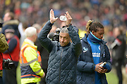 Brighton Manager, Chris Hughton during the Sky Bet Championship match between Milton Keynes Dons and Brighton and Hove Albion at stadium:mk, Milton Keynes, England on 19 March 2016. Photo by Dennis Goodwin.