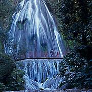 Cola de Caballo waterfall. Monterrey, Nuevo Leon, Mexico.