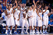 Team.<br /> <br /> The University of Kentucky men's basketball team beat Missouri 86-37 on Tuesday, January 13, 2015, in Lexington's Rupp Arena.<br /> <br /> <br /> Photo by Elliott Hess | UK Athletics