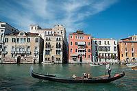 Gondola in Grand Canal, Venice, Italy