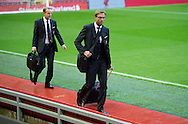 Liverpool manager Jurgen Klopp (centre) before the Barclays Premier League match at Anfield, Liverpool<br /> Picture by Russell Hart/Focus Images Ltd 07791 688 420<br /> 08/11/2015