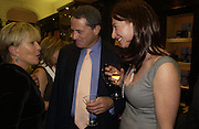 Candida Lycett-Green, Charles Glass and ' Kate Westbrook' The Moneypenny diaries book launch. Smythson, 40 New Bond St. London.  4 October 2005. . ONE TIME USE ONLY - DO NOT ARCHIVE © Copyright Photograph by Dafydd Jones 66 Stockwell Park Rd. London SW9 0DA Tel 020 7733 0108 www.dafjones.com