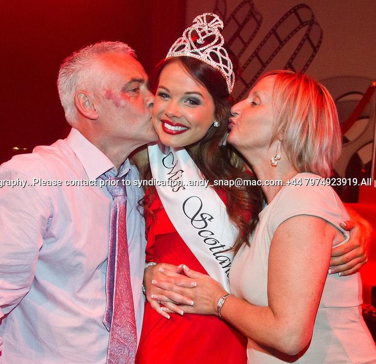 23:05:2012.Miss scotland 2012 -The Final. Nicole Treacy is Miss Scotland 2012...Nicole Treacy with her mum and dad.. ..Pic:Andy Barr.07974 923919  (mobile).andy_snap@mac.com.All pictures copyright Andrew Barr Photography. .Please contact before any syndication. .