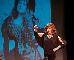 """Joan Collins during """"One Night with Joan"""", the Leicester Square Theatre, London, Great Britain, 12 April 2013. Photo by: Elliott Franks / i-Images"""