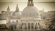 The domes of Santa Maria della Salute church, Venice, Veneto, Italy
