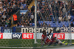 Britt Assombalonga of Middlesbrough scores his sides second goal - Mandatory by-line: Jack Phillips/JMP - 09/09/2017 - FOOTBALL - Macron Stadium - Bolton, England - Bolton Wanderers v Middlesbrough - English Football League Championship