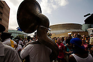 Survivors of Hurricane Katrina march through downtown New Orleans to the Louisiana Superdome. Today is the one year anniversary of the Hurricane Katrina Disaster.
