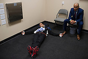 Beneil Dariush waits backstage before his fight at UFC 185 on March 14, 2015 in Dallas, Texas.
