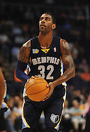 Nov. 5 2010; Phoenix, AZ, USA; Memphis Grizzlies guard O.J. Mayo (32) reacts on the court against the Phoenix Suns at the US Airways Center.  The Suns defeated the Memphis Grizzlies in double over time 123 - 118.  Mandatory Credit: Jennifer Stewart-US PRESSWIRE...