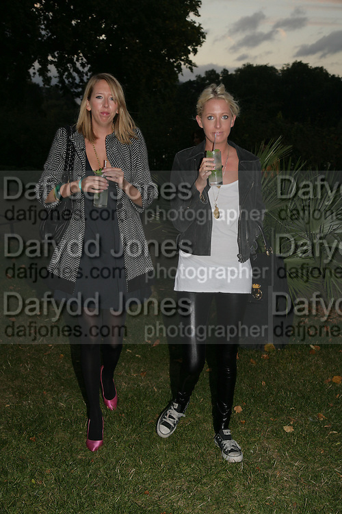 hon Flora and hon Sophia Hesketh, QUINTESSENTIALLY AND ELEPHANT FAMILY TRUNK SHOW PARTY. SERPENTINE PAVILION, HYDE PARK. 16 SEPTEMBER 2007. -DO NOT ARCHIVE-© Copyright Photograph by Dafydd Jones. 248 Clapham Rd. London SW9 0PZ. Tel 0207 820 0771. www.dafjones.com.