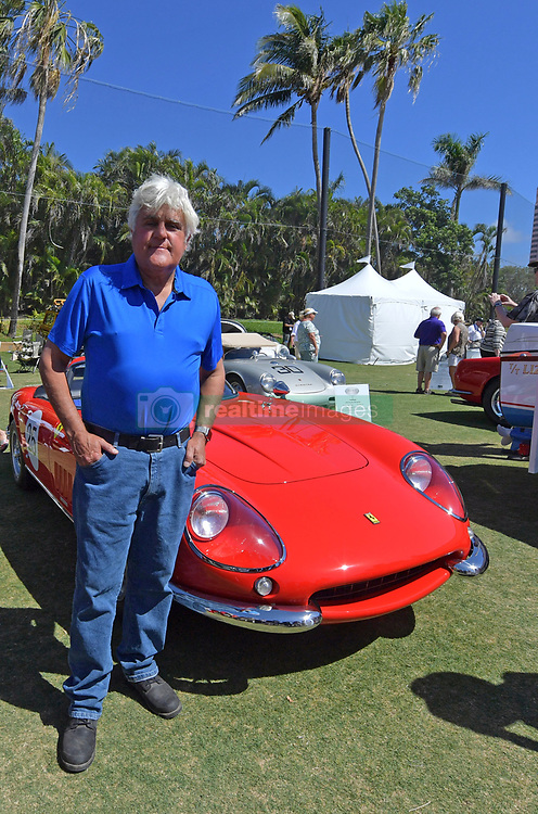 """February 25, 2018 - Boca Raton, Florida, United States Of America - BOCA RATON, FL- FEBRUARY 25: Jay Leno, Wayne Carini and actor Tim Allen judge and host 175 of the finest collector cars and motorcycles from around the country will gather on the show field at the famed Boca Raton Resort & Club. On display at this year's Concours will be an exquisite collection of AACA """"Cars through the Decades,"""" and Lincoln-Mercury vehicles.  The judging process will combine a point/percentage system, along with the Modified French Rule evaluation criteria of the cars condition, authenticity/originality, and appeal in the following areas: the vehicle's exterior, its interior area, the engine area, and the overall presentation, visual impact, and significance of the car at the Boca Raton Resort & Club on February 25, 2018 in Boca Raton, Florida...People:  Jay Leno. (Credit Image: © SMG via ZUMA Wire)"""