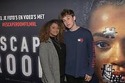 2019, Februari 22. Pathe ArenA, Amsterdam. Premiere van Escape Room. Op de foto: Quinty Misiedjan en Jeroen van Holland