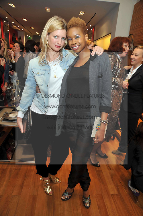 Left to right, LAINEY SHERIDAN-YOUNG and TOLULA ADEYEMI at a party in aid of the charity Best Buddies held at the Hogan store, 10 Sloane Street, London SW10 on 13th May 2009.