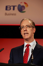 © Licensed to London News Pictures. 03/03/2016 London UK. Colm O'Neill MD of Corporate British Telecom speaks at The British Chamber of Commerce Annual Conference at The QE ll Conference Centre, Westminster.<br /> Photo credit : Simon Jacobs/LNP