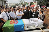 King of the Roma Gypsies. Funeral burial Florin Cioaba