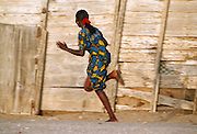 Running Girl in Saint-Louis Senegal