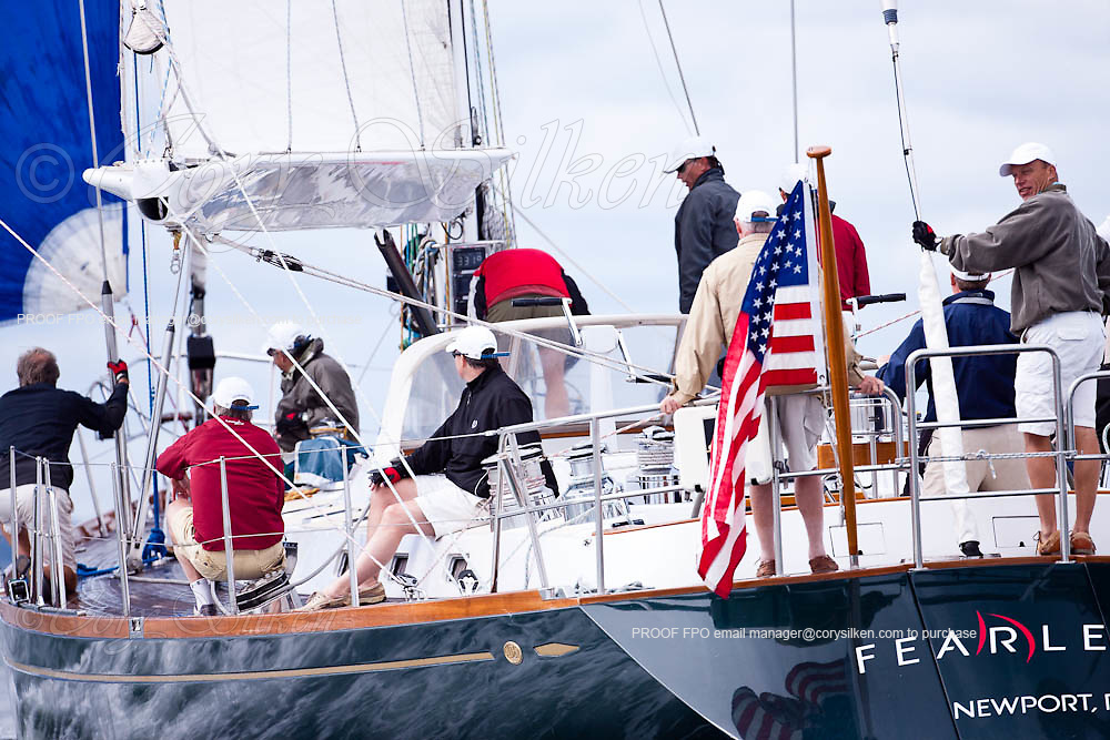 Fearless sailing in the Newport Bucket Regatta, race 2.