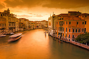 Evening light on the Grand Canal, Venice, Veneto, Italy