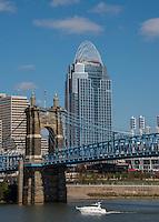 Great American Tower Roebling Bridge Cincinnati Ohio