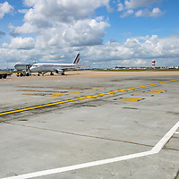 Details on the tarmac at Heathrow Airport;<br /> 7th May 2015.<br /> <br /> &copy; Pete Jones<br /> pete@pjproductions.co.uk