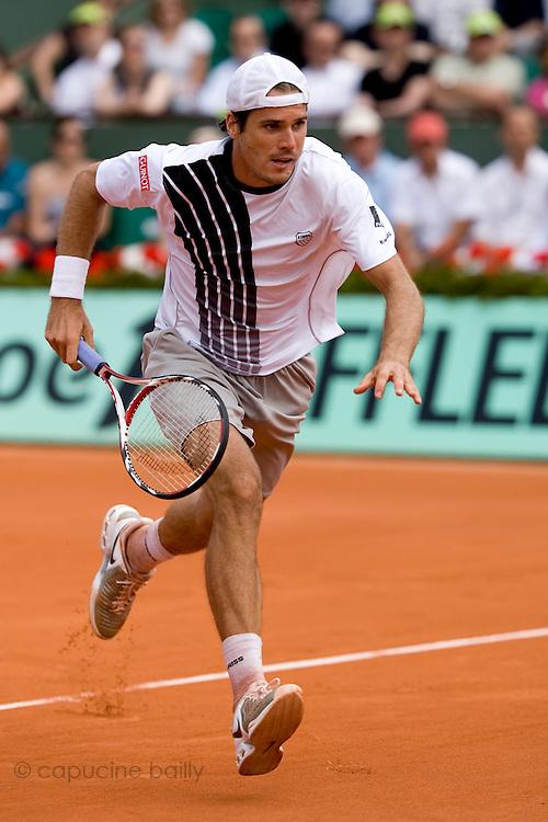 Paris, France. June  1st 2009. .Roland Garros - Tennis French Open. .German player Tommy Haas against Roger Federer