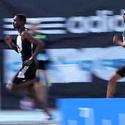 David Rudisha, Kenya, winning the adidas Men's 800m during the Diamond League Adidas Grand Prix at Icahn Stadium, Randall's Island, Manhattan, New York, USA. 14th June 2014. Photo Tim Clayton