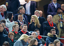 LIVERPOOL, ENGLAND - Saturday, December 29, 2018: Liverpool's chief executive officer Peter Moore and wife Dianne before the FA Premier League match between Liverpool FC and Arsenal FC at Anfield. (Pic by David Rawcliffe/Propaganda)