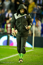 BIRMINGHAM, ENGLAND - Thursday, November 3, 2011: Birmingham City's substitute goalkeeper Boaz Myhill before the UEFA Europa League Group H match against Club Brugge at St. Andrews. (Pic by David Rawcliffe/Propaganda)
