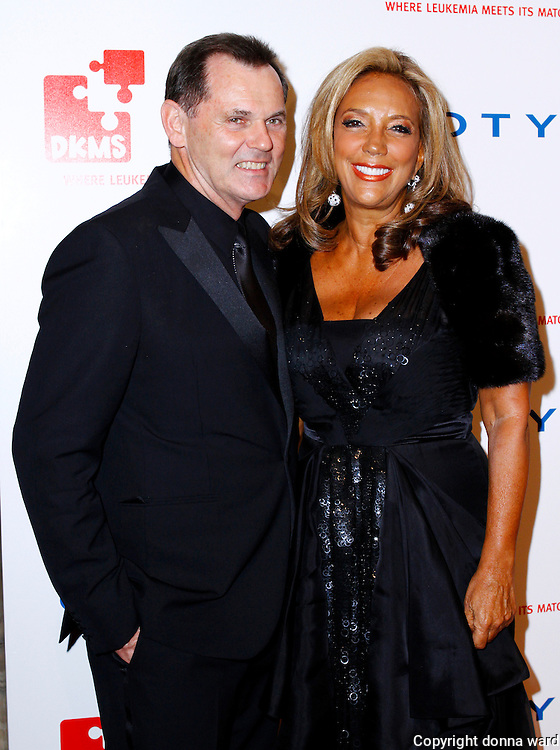 Bernd Beetz and Denise Rich pose at the 5th Annual DKMS Gala at Cipriani Wall Street in New York City on April 28, 2011.