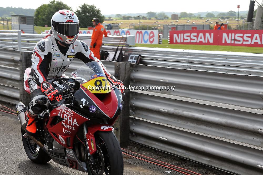#97 Josh Corner MJJ Motorsport/Alpha Paints LTD Kawasaki British Supersport
