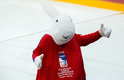Mascot Bobek during Ice Hockey match between USA and Czech Republic at Third place game of 2015 IIHF World Championship, on May 17, 2015 in O2 Arena, Prague, Czech Republic. Photo by Vid Ponikvar / Sportida