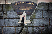 Oskar Schindler was born 1908 in Svitavy (German: Zwittau) - now located in Czech Republic. Oskar Schindler (28 April 1908  9 October 1974) was an ethnic German industrialist who saved the lives of more then 1000 jews during the 2nd World War. His story became world famous when Steven Spielberg filmed Schindlers story in the movie Schindler's List (Schindler's Ark). On the images seen the Oskar Schindler memorial located in the city of Svitavy.
