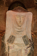 Statue of St Agnes of Jesus, 1995, by Dominique Kaeppelin, in the Eglise Saint-Gal (Church of Saint Gal), Langeac, Haute Loire, Auvergne, France. St Agnes of Jesus, or St Agnes of Langeac, 1602-34, founded the Monastere Sainte Catherine de Sienne, or Monastery of St Catherine of Siena, in 1623, and was prioress from 1627. Picture by Manuel Cohen. This picture may require further clearance, please contact www.dominique-kaeppelin.fr