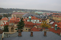 Colourful rooftops over Prague city, Czech Republic<br />