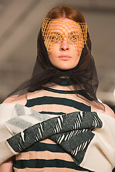 © Licensed to London News Pictures. 31/05/2014. London, England. Collection by Sarah Kilkenny from Edinburgh College of Art. Graduate Fashion Week 2014, Runway Show at the Old Truman Brewery in London, United Kingdom. Photo credit: Bettina Strenske/LNP