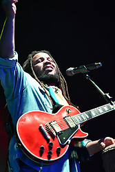 June 30, 2018 - Virginia Beach, VIRGINIA, USA - STEPHEN MARLEY Grammy winner brings the reggae to the Veteran's United Home Loans Amphitheater . in Virginia Beach, Virginia on 30 JUNE 2018. (Credit Image: © Jeff Moore via ZUMA Wire)