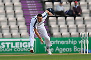 Kyle Abbott of Hampshire bowling during the Specsavers County Champ Div 1 match between Hampshire County Cricket Club and Surrey County Cricket Club at the Ageas Bowl, Southampton, United Kingdom on 6 September 2017. Photo by Graham Hunt.