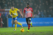 Exeter City's Joel Grant during the Sky Bet League 2 match between Exeter City and Accrington Stanley at St James' Park, Exeter, England on 23 January 2016. Photo by Graham Hunt.
