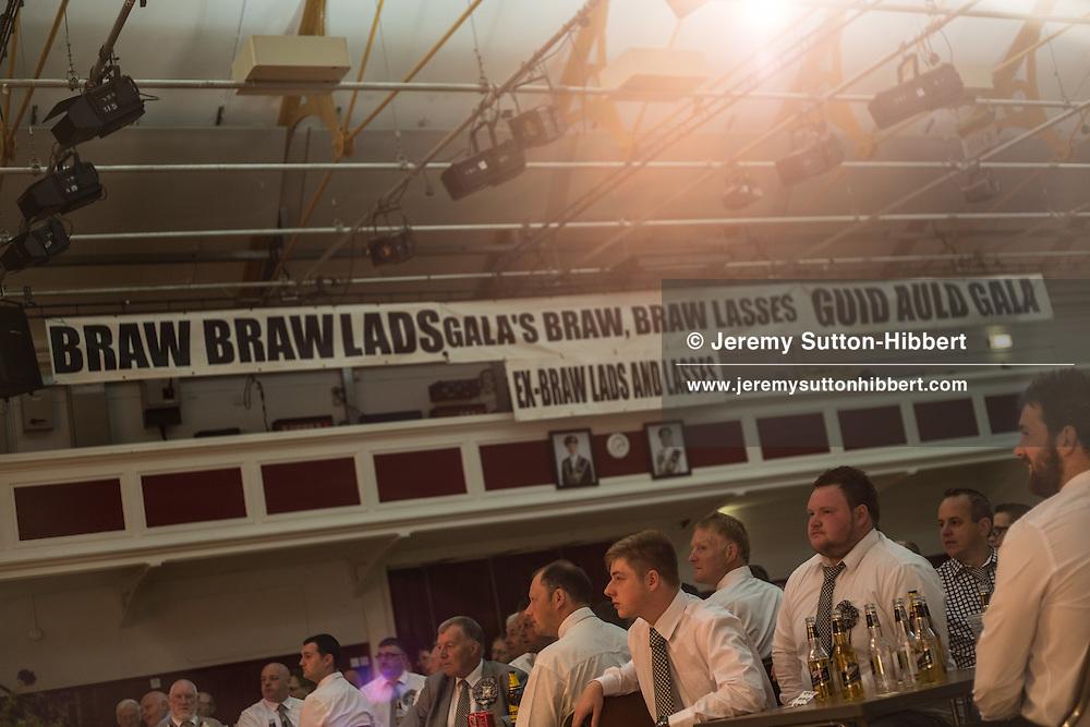 The Braw Lads Breakfast, at Volunteer Hall, during the Gala Braw Lads Gathering, with Braw Lad Daniel Whitehead, in Galashiels, Scotland, Saturday 29th June 2013.<br /> N55&deg;36.901'<br /> W2&deg;48.467'