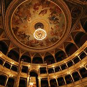 Opera House interior ceiling, Budapest, Hungary (April 2007)