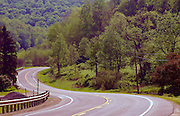 Northcentral Pennsylvania, US Route #6, curved mountain road