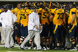 BERKELEY, CA - OCTOBER 06: Head coach Jeff Tedford of the California Golden Bears on the sidelines against the UCLA Bruins during the fourth quarter at California Memorial Stadium on October 6, 2012 in Berkeley, California. The California Golden Bears defeated the UCLA Bruins 43-17. (Photo by Jason O. Watson/Getty Images) *** Local Caption *** Jeff Tedford